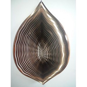 Ozdoba ogrodowa Liść 35 cm złota