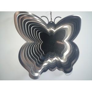 Ozdoba ogrodowa MOTYL srebro 25 cm